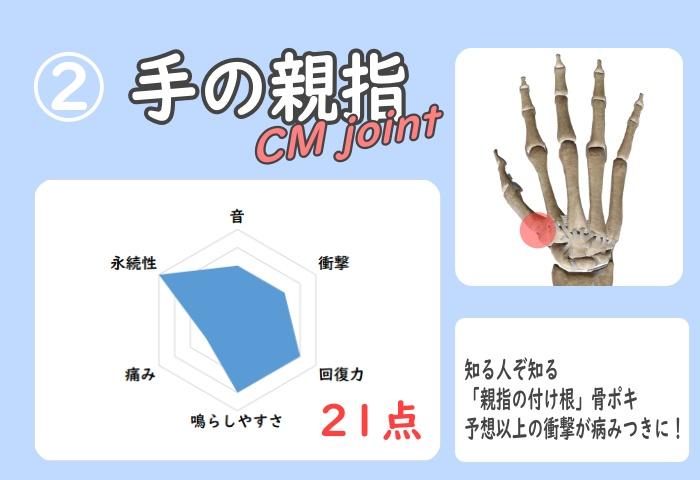 親指の付け根 グラフ